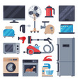 home appliances domestic household equipment vector image vector image