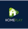 home play studio logo design template vector image