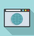 hosting domain icon flat style vector image