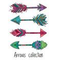 indian ethnic arrows vector image vector image