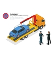 Isometric police fines car design flat isolated vector image vector image