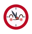 kawaii school clock hour time watch icon vector image vector image