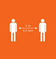 keep distance sign coronavirus epidemic protective vector image