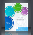 layout business flyer magazine cover or corporate vector image vector image