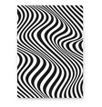 layout with wavy lines abstract twisted duotone vector image vector image
