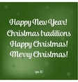 Merry christmas 2016 Happy New Year Beautiful text vector image vector image