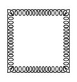ornamental frame - black telephone spiral cable vector image vector image