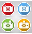 Photo camera icons collection vector image vector image