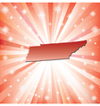 Red Tennessee vector image vector image