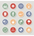 Round ecology icon set