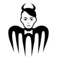 sad devil spectre black icon vector image vector image