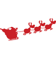 Santa with reindeer cartoon vector image vector image