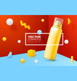 scene with border around mousse bottle vector image vector image