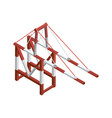 sea port crane isometric 3d element vector image vector image