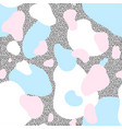 seamless pattern of blue and pink blots vector image vector image