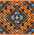 seamless tribal boho pattern vector image vector image