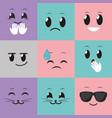 social media emoticon design vector image