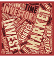 Stock Market Strategies For Investors text vector image vector image