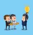 successful businessman with idea vector image vector image