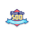 thank you 500 followers numbers template for vector image vector image