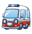 trendy ambulance icon cartoon style vector image vector image