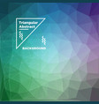 triangular polygonal background vector image