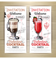 Valentine cocktail party poster Invitation design vector image vector image