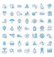 water icon set in thin line style symbol vector image vector image