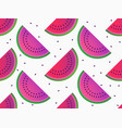 watermelon slices seamless pattern summer vector image vector image