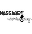 what to look for in a good home massage chair vector image vector image