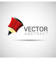 pencil outline thin symbol red on dark background vector image