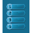 Blue number headings banners icons set vector image