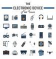 electronic device flat icon set technology vector image