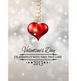 Elegant Valentines Day background vector image