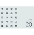 Set of advertising icons vector image