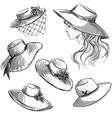 Set of hats vector image
