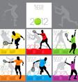 tennis aces 2012 calendar template vector image