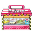 A bakery selling baked goodies vector image