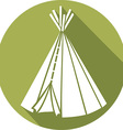 American Indian Wigwam Icon vector image