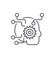 artificial intelligence line icon concept vector image vector image