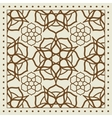 Beige scarf with geometric pattern design vector image vector image