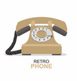 beige vintage telephone isolated on white vector image vector image