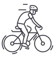 bicyclingbycicle man line icon sign vector image vector image