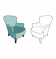big blue armchair vector image vector image