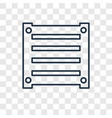 box concept linear icon isolated on transparent vector image
