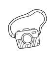 camera hand drawn vector image vector image