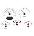 car dashboard scales fuel gauge speedometer vector image vector image