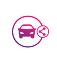 carsharing service icon on white vector image vector image