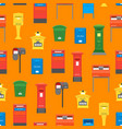 cartoon color mail box seamless pattern background vector image vector image