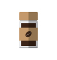 Coffee glass bottle vector image vector image